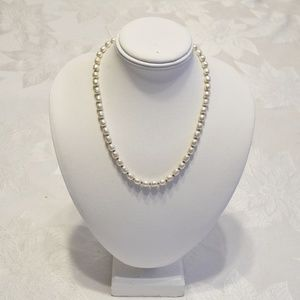 """Vtg. Miriam Haskell Signed Faux Pearl 16"""" Necklace"""